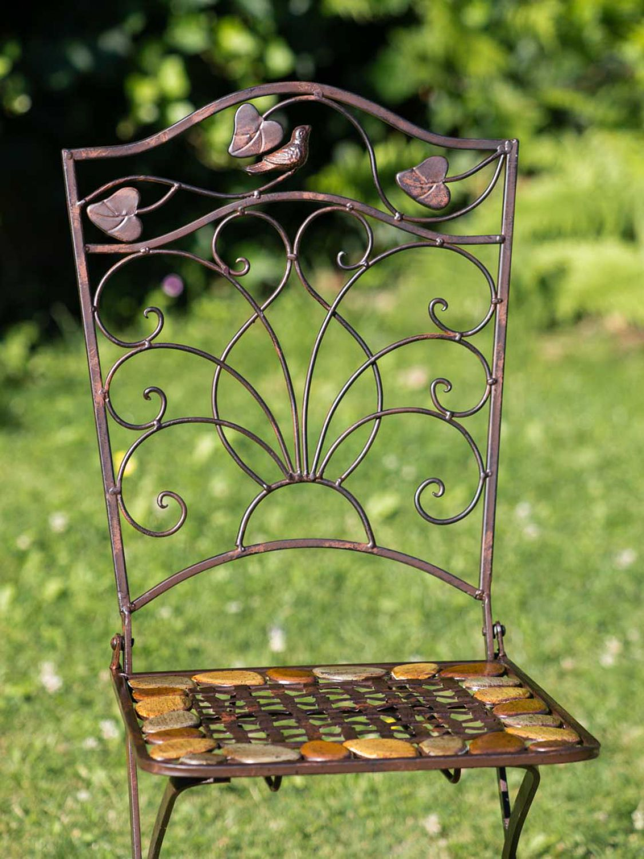 Tavolo da giardino e 2 sedie in ferro battuto in ferro in for Sedie da giardino in ferro battuto