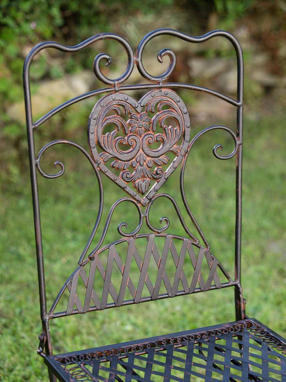 gartentisch 2x stuhl eisen antik stil bistrom bel gartenm bel braun ebay. Black Bedroom Furniture Sets. Home Design Ideas