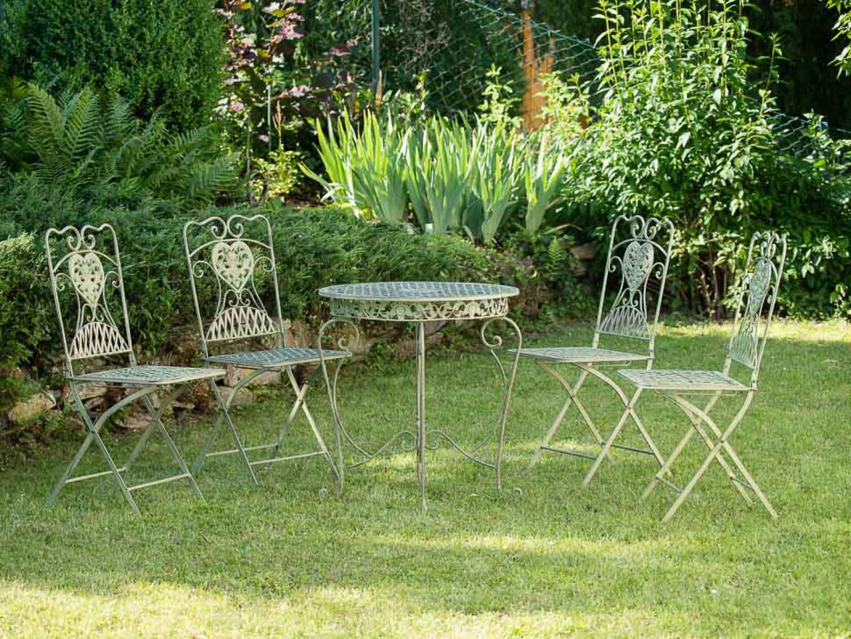 Mobili Da Giardino In Ferro : Tavolo da giardino e sedie ferro antico mobili da giardino in