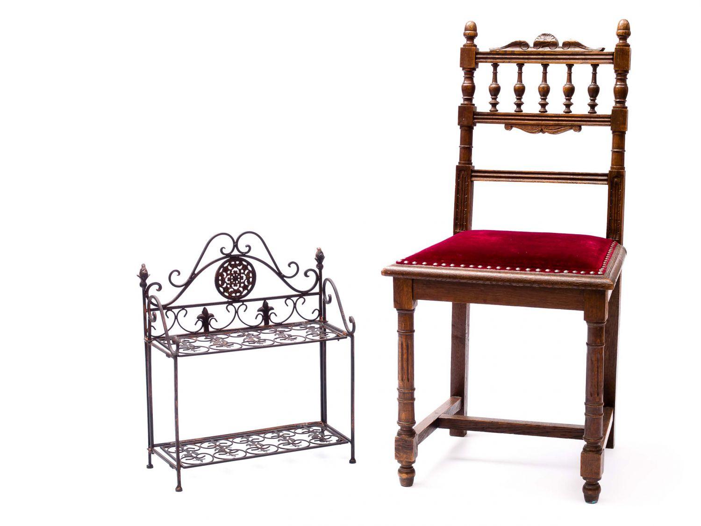 Nostalgie regal wandregal wandgarderobe garderobe eisen antik stil lilie ebay - Nostalgie wandregal ...