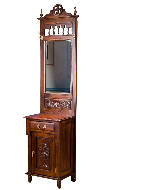 flur garderobe garderobe garderobenschrank spiegel flur im antiken stil 210cm ebay. Black Bedroom Furniture Sets. Home Design Ideas