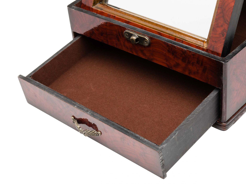 schmuckschatulle spiegel schmuckkasten antik stil holz jewelry box dame ebay. Black Bedroom Furniture Sets. Home Design Ideas
