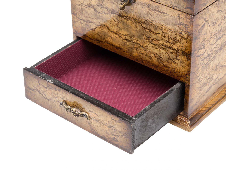 schmuckschatulle mit spiegel schmuckkasten antik stil dose. Black Bedroom Furniture Sets. Home Design Ideas
