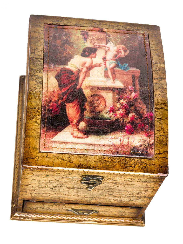 Bo te bijoux avec miroir bois style antique ebay for Force de miroir ebay