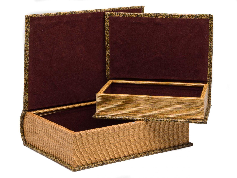 zwei mal buchtresor buchsafe buchattrappe geheimversteck. Black Bedroom Furniture Sets. Home Design Ideas