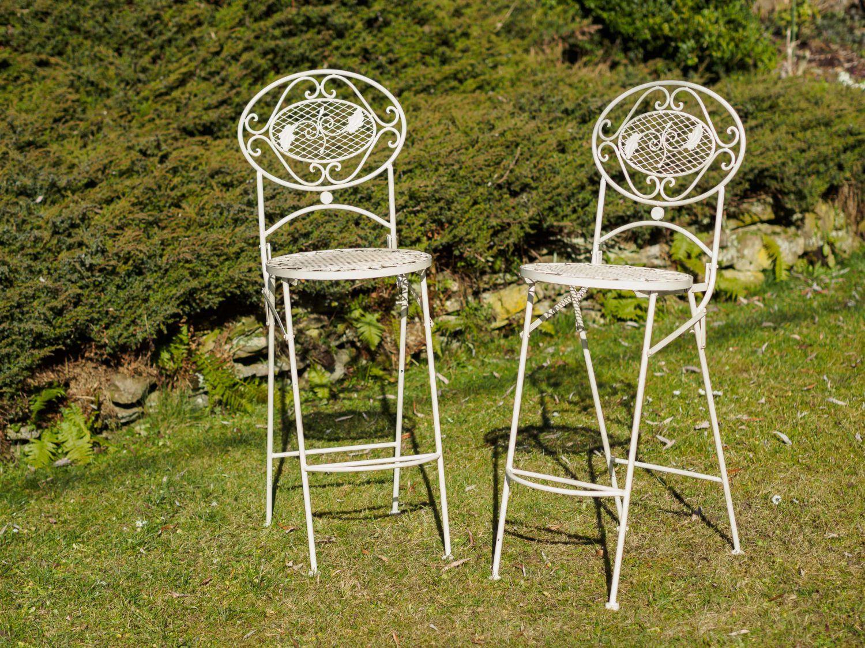 Tavolo bar sgabelli da bar bianco crema mobili da giardino bar