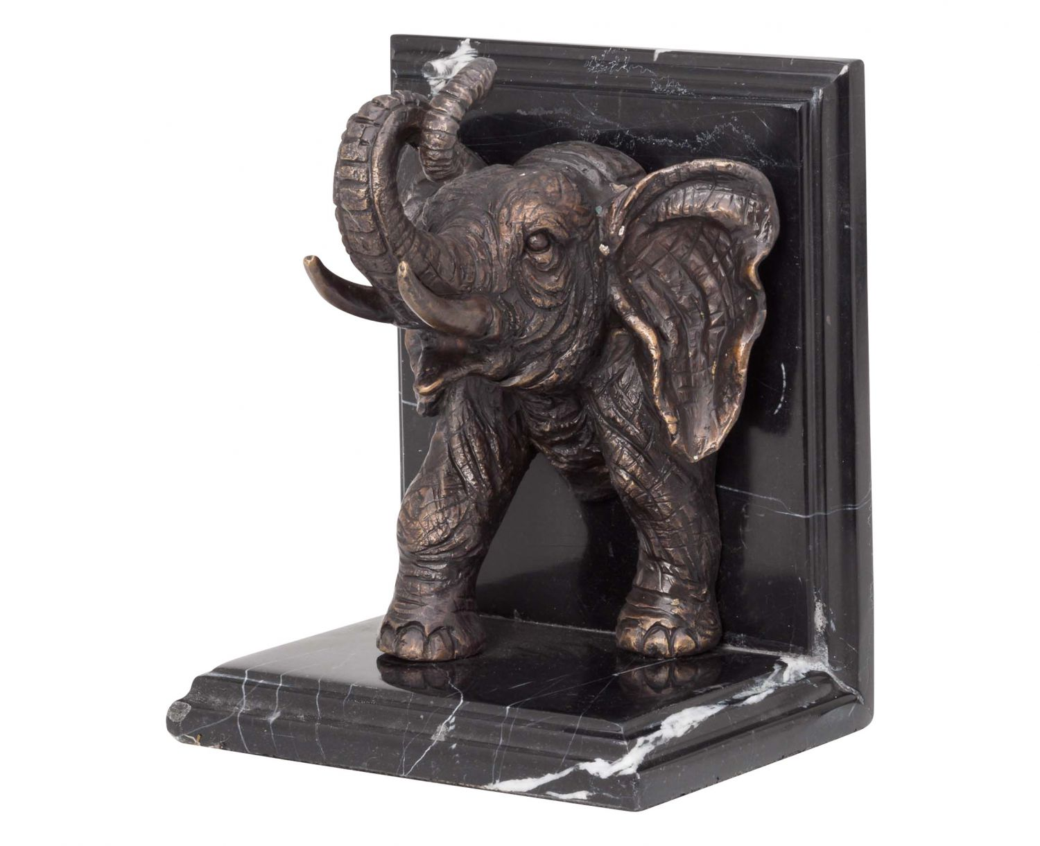 2 bookends bronze sculpture figurine elephant bronze figurine book bookend bronze ebay. Black Bedroom Furniture Sets. Home Design Ideas