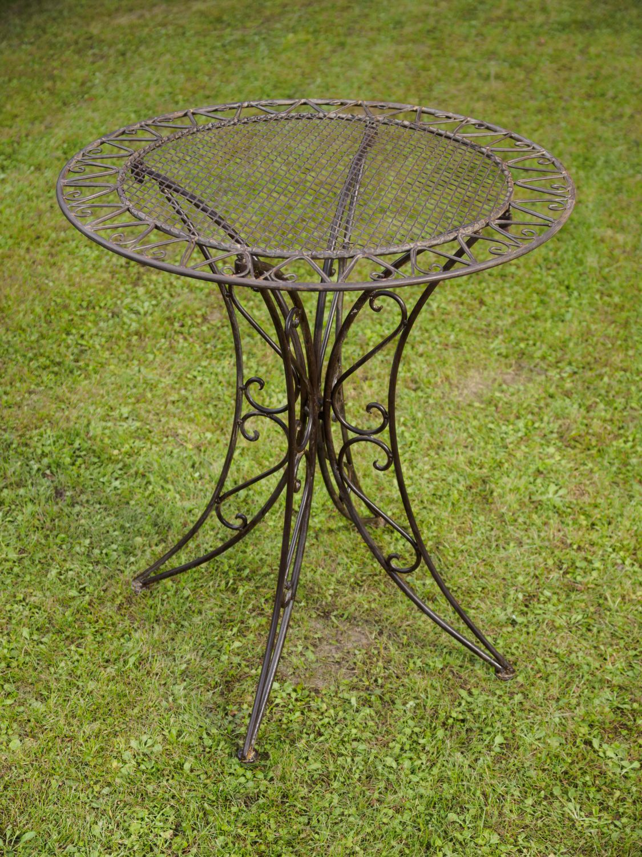 Tavolo da giardino in ferro in ferro battuto tavolo da bistr mobili da ebay - Tavolo giardino ferro battuto ...