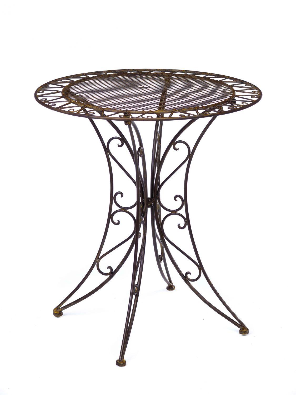 Gartentisch Eisen Schmiedeeisen Tisch Bistrotisch Gartenmöbel antik ...