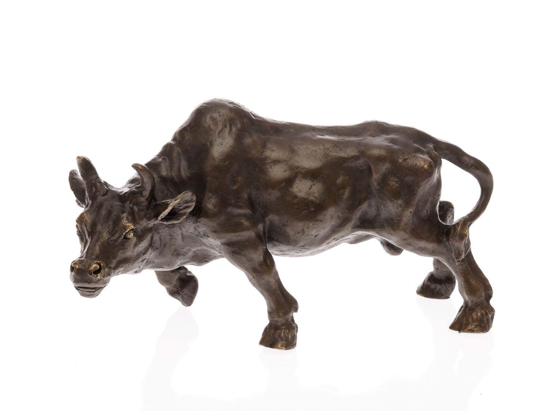 Bronzeskulptur Stier Bulle Bull Bronze Marmor Figur Skulptur Bronzefigur