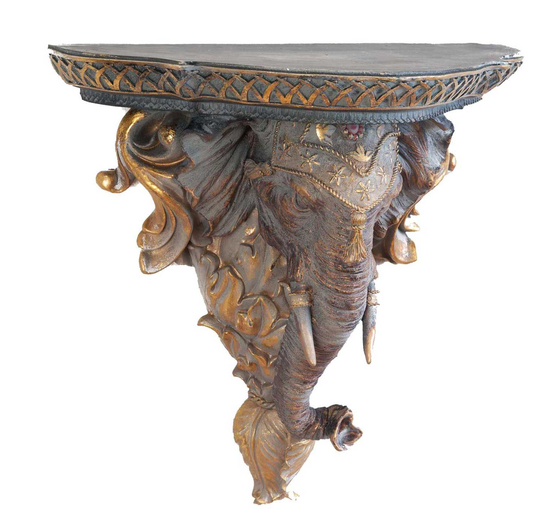 console murale motif l phant style antique ebay. Black Bedroom Furniture Sets. Home Design Ideas