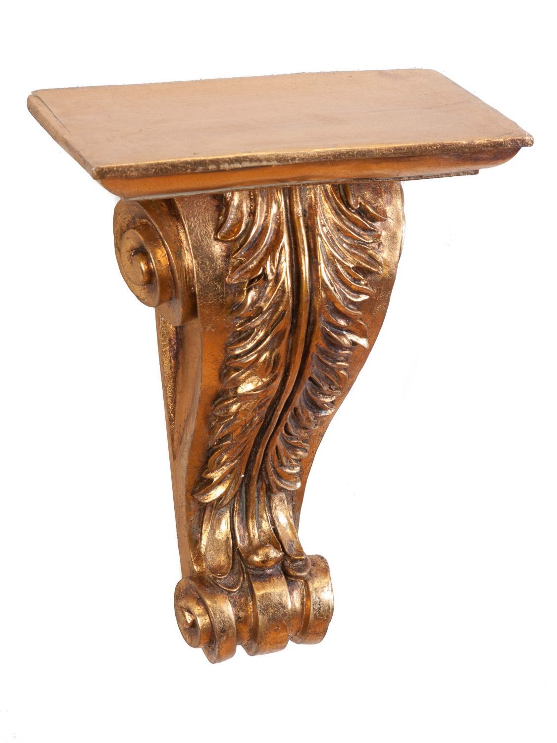 Console wall mounted shelf golden embellishments baroque for Plastic baroque furniture
