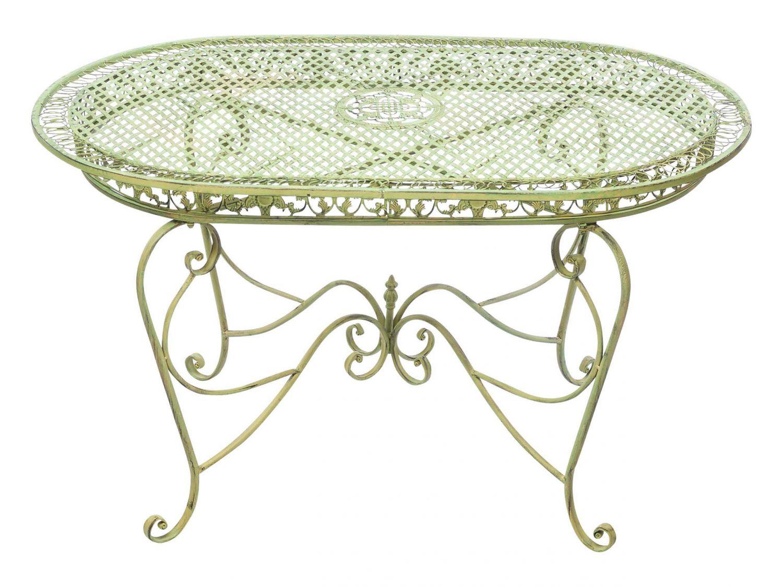 Set tavolo da giardino 4 sedie da giardino in ferro verde for Mobili da giardino in ferro antichi