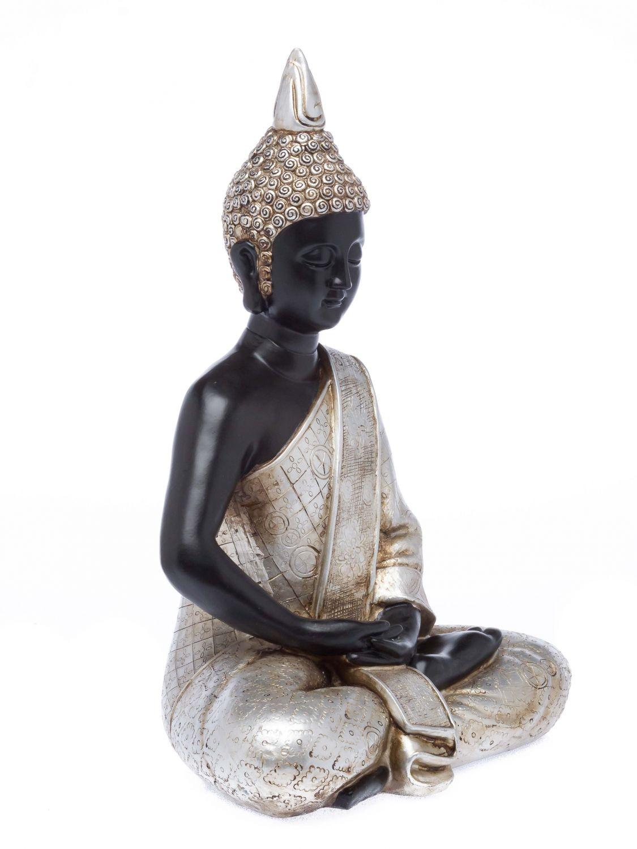 bouddha meditation feng shui chiffre sculpture asie art d co d coration en ebay. Black Bedroom Furniture Sets. Home Design Ideas