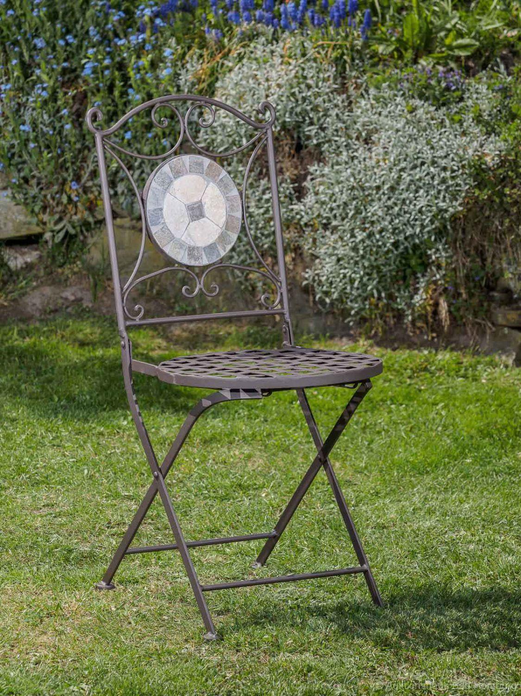 Gartentisch selber bauen fliesen  Garnitur Gartentisch 2 Stühle Eisen Fliesen Mosaik Garten Tisch ...
