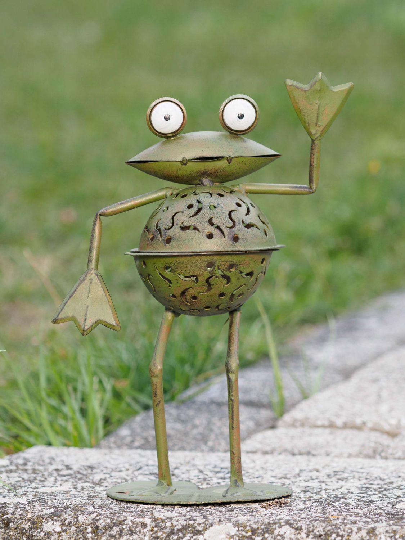 2x lanterne grenouille grenouilles jardin photophores ebay for Decoration jardin grenouille