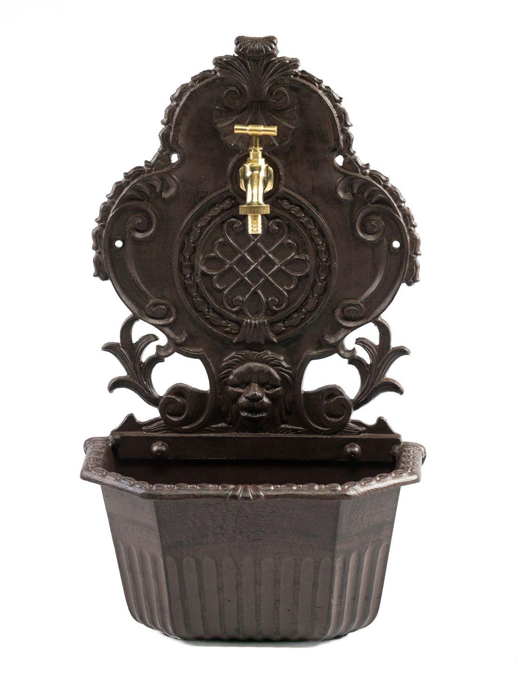 fontaine de jardin sur pied avec vasque style ancien aluminium motif lion ebay. Black Bedroom Furniture Sets. Home Design Ideas