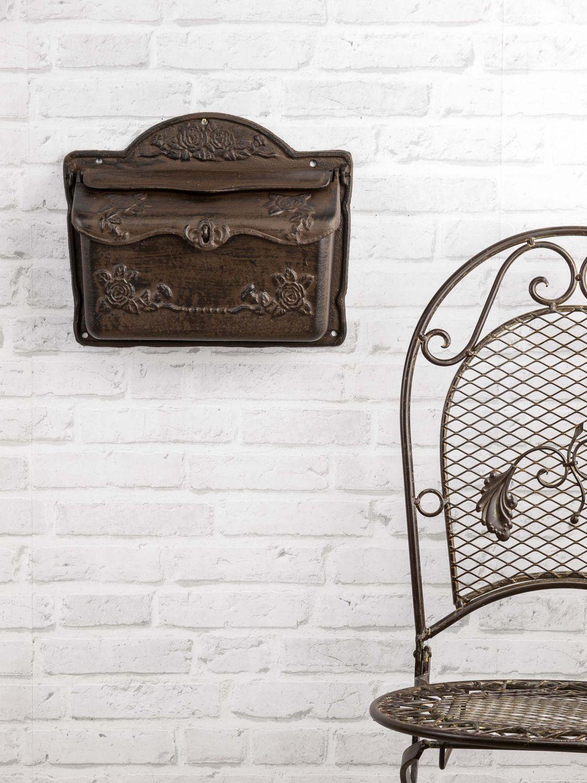 briefkasten wandbriefkasten eisen antik stil landhausstil. Black Bedroom Furniture Sets. Home Design Ideas