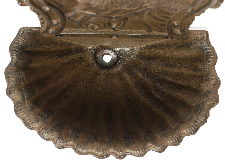 waschbecken wandbrunnen garten eisen nostalgie antik stil pferd brunnen braun ebay. Black Bedroom Furniture Sets. Home Design Ideas