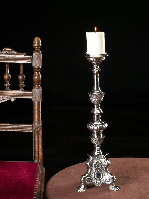 leuchter kerzenleuchter altarleuchter kerzenst nder antik stil farbe silber 46c ebay. Black Bedroom Furniture Sets. Home Design Ideas