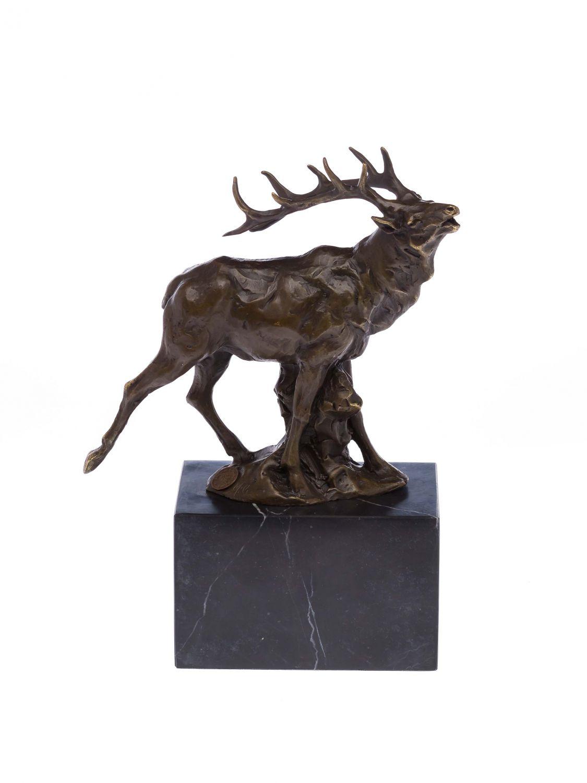 Bronze R Hrender Hirsch Bronzeskulptur Figur Skulptur