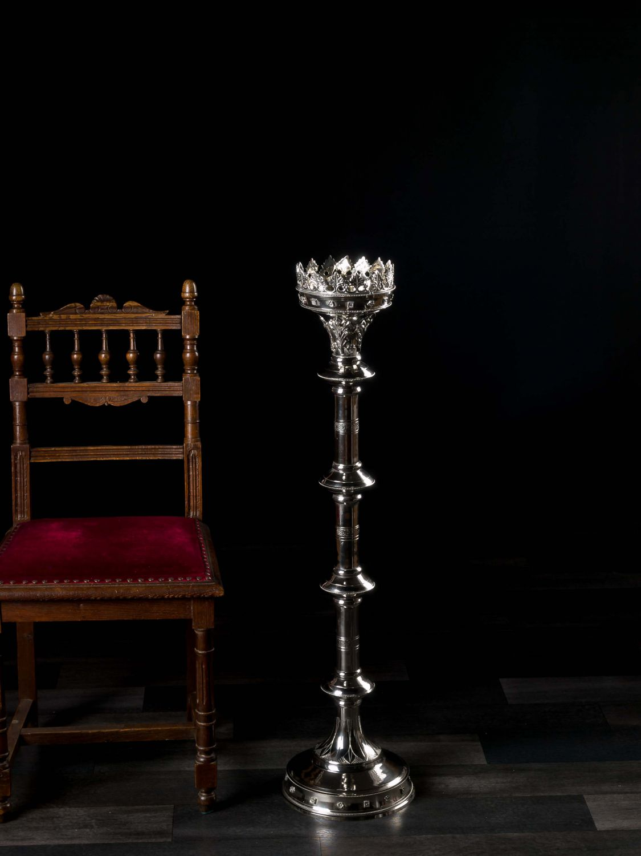 XL Kerzenleuchter 100cm Altarleuchter Kerzenständer Gotik Stil Standleuchter