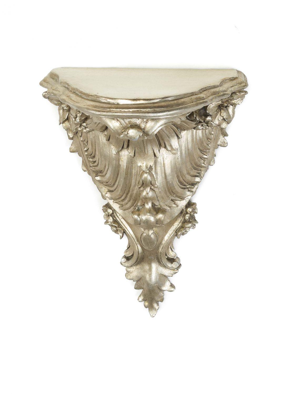 Console Coppia Mensola Wandboard argento antico stile barocco  eBay
