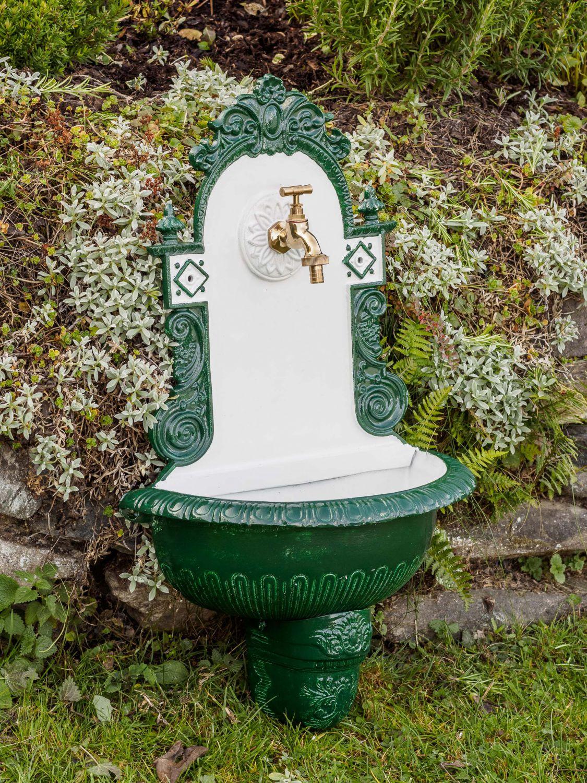 Nostalgie vier fontaine fontaine murale 71 5cm alu for Jardin 71