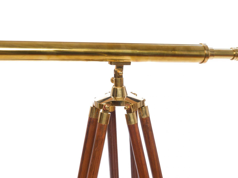 gro es fernrohr fernglas teleskop messing mit holz stativ 150cm antik stil ebay. Black Bedroom Furniture Sets. Home Design Ideas