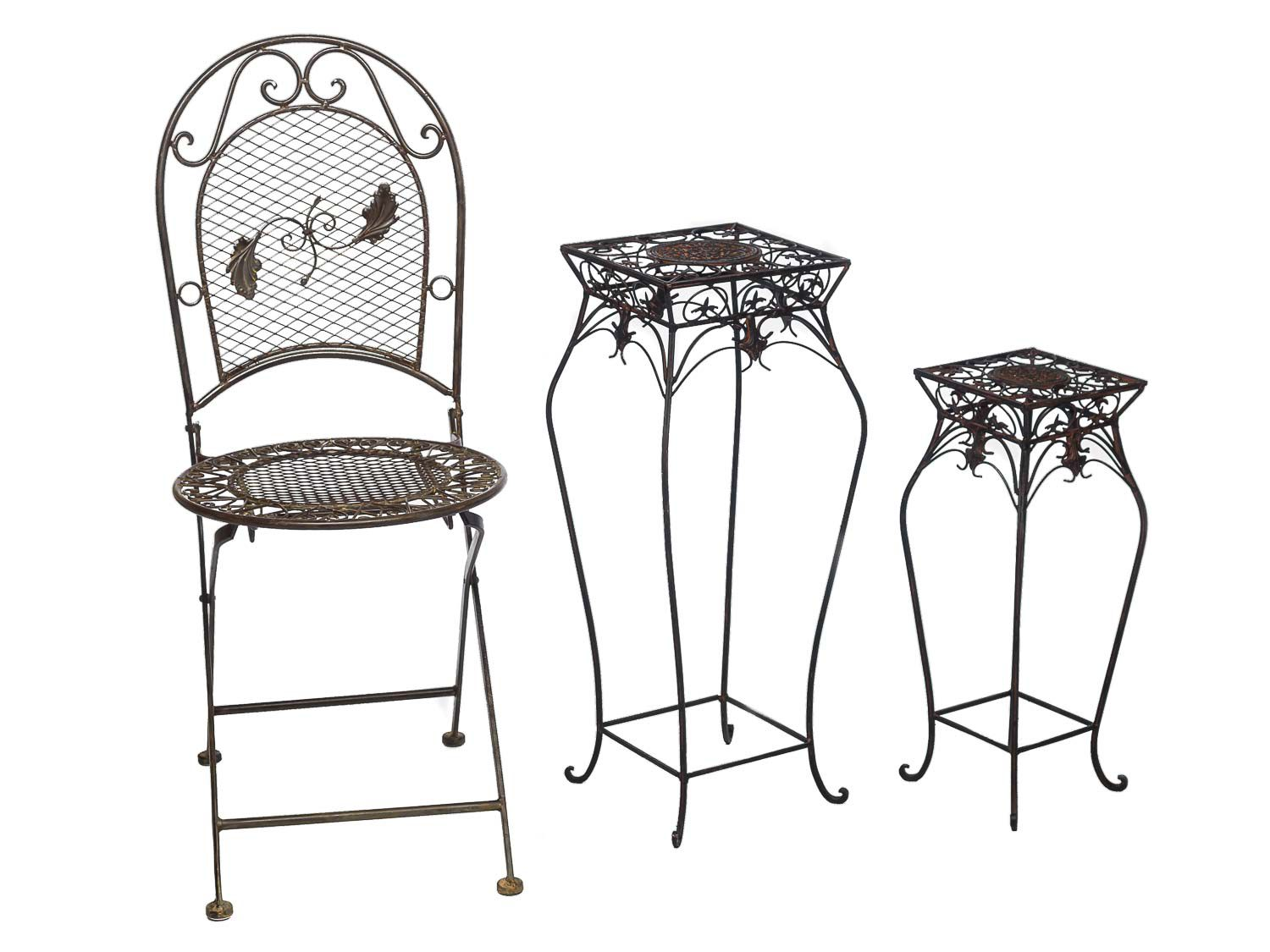 2x meuble tableau floral pour pot de fleurs plantes style antique ebay. Black Bedroom Furniture Sets. Home Design Ideas