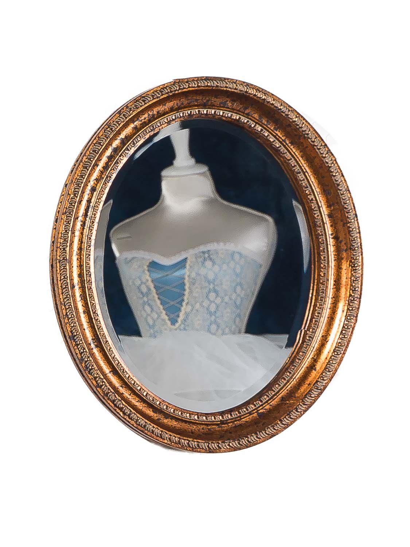 Specchio stile antico aspetto tagliare bronzo colore oro for Specchio stile antico