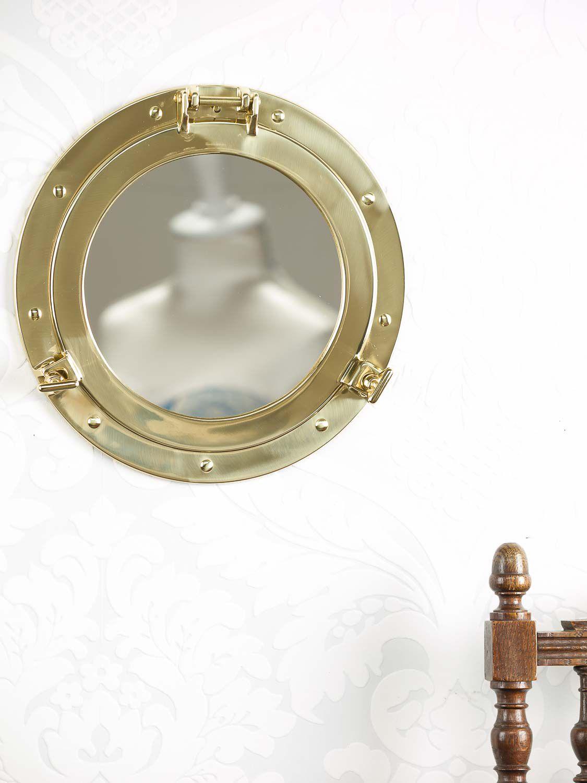 hublot avec miroir bateau ouvert navire d corations maritimes 29cm e ebay. Black Bedroom Furniture Sets. Home Design Ideas