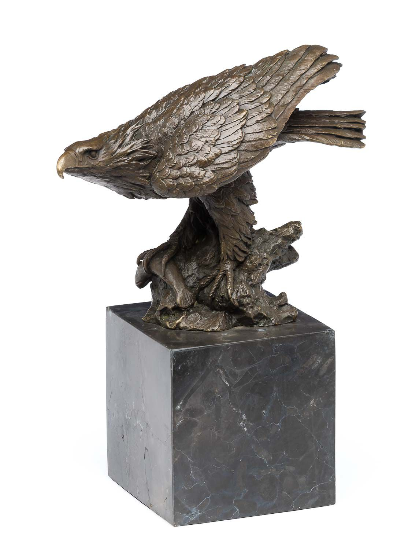 sculpture d aigle bronze socle en marbre ebay. Black Bedroom Furniture Sets. Home Design Ideas