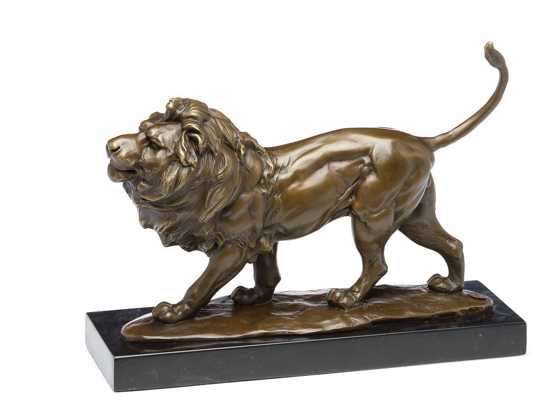 Metallobjekte Figur Löwe Bronze
