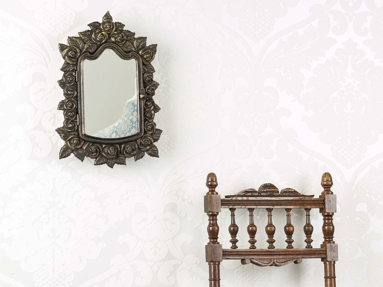 Casella chiave con specchio a vetri pannello portachiavi for Specchio stile antico