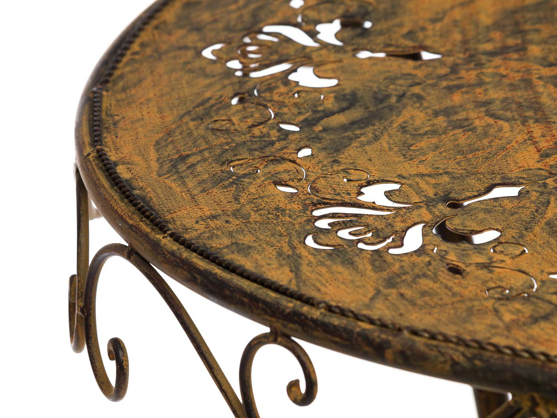 Juego ferrosos muebles de jardín metal muebles de color marrón ...