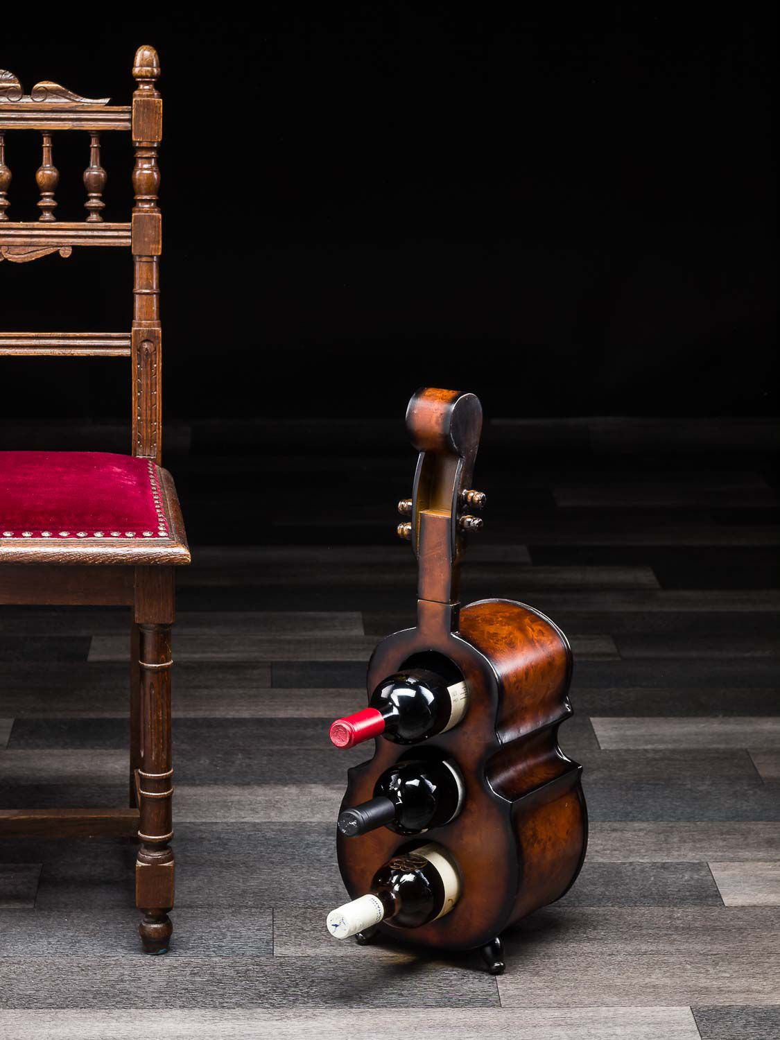 Cello wine rack 60cm contrabass bottle rack bottles rack wood ebay - Wine rack shaped like wine bottle ...