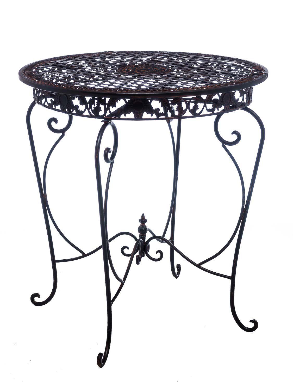 Gartentisch Tisch Garten Bistrotisch Eisen Antik-Stil Gartenmöbel ...