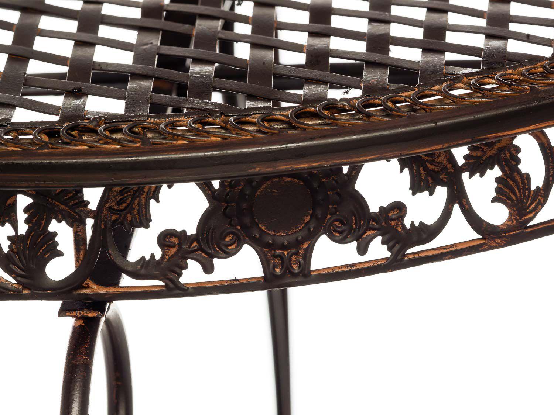 Gartentisch Tisch Garten Bistrotisch Eisen Antik Stil Gartenmobel