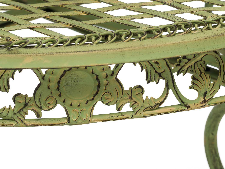 Salon de jardin - 1 table et 2 chaises - fer forgé - style ...
