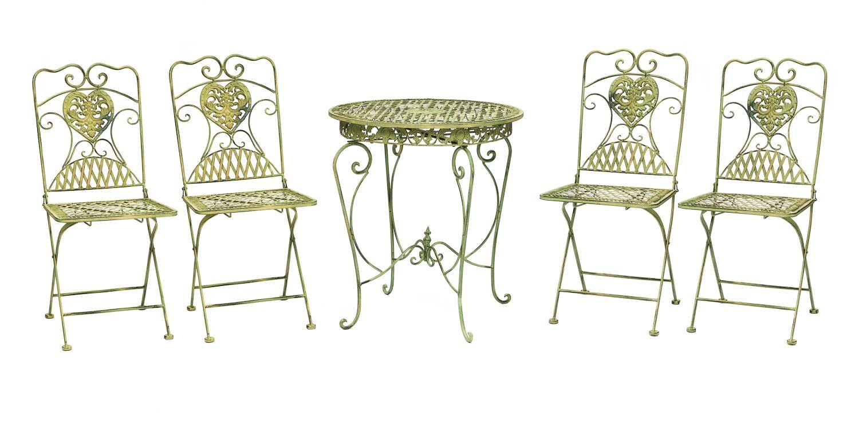 Tavolo da giardino e 4 sedie ferro antico mobili da giardino in stile in ferro ebay - Mobili da giardino in ferro ...