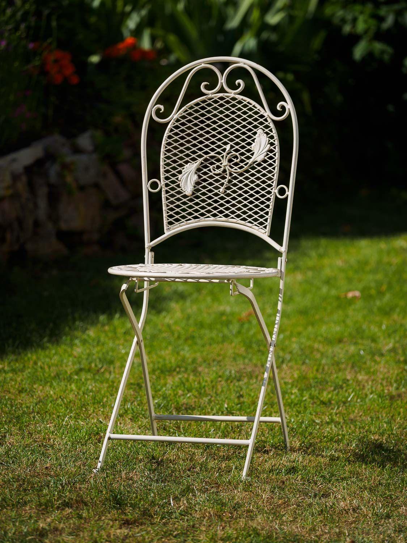 Garden Furniture Set Table 4 Chairs Cream White