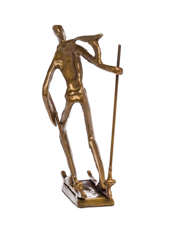 Skulptur Tennis Tennisspieler Antik-Stil Bronze Figur Moderne Pokal Trophäe