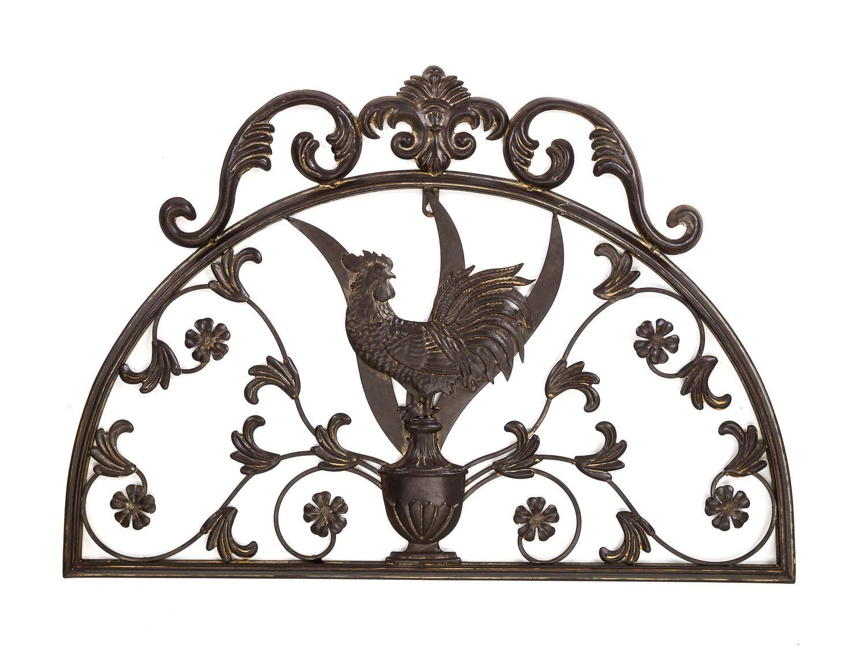 wanddekoration schild wand fenster hahn 70cm metall deko garten terrasse ebay. Black Bedroom Furniture Sets. Home Design Ideas