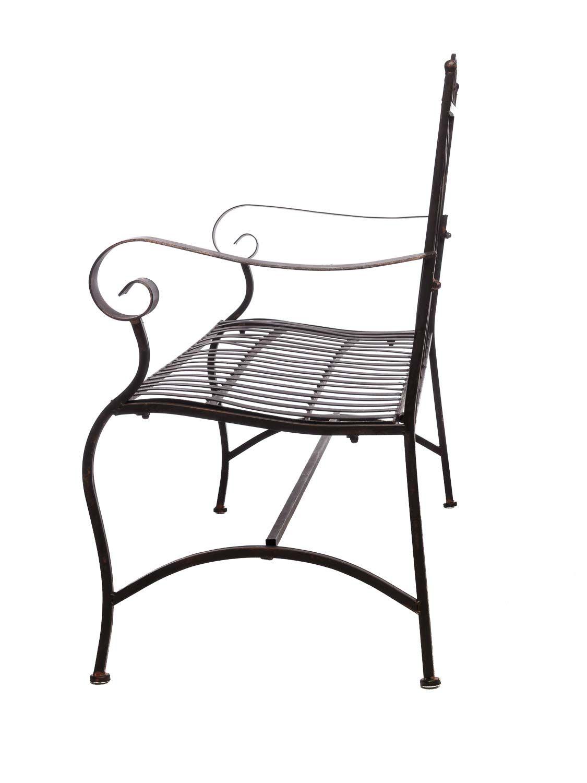 nostalgische gartenbank 116cm eisen bank nostalgie antik stil garten ebay. Black Bedroom Furniture Sets. Home Design Ideas