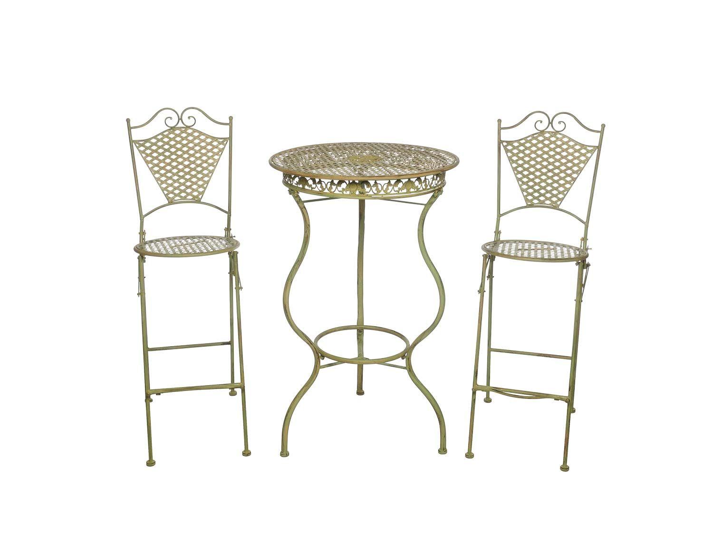 Mobili da giardino in ferro mobili bar tavolo e due sgabelli da bar in stile ebay - Mobili da giardino in ferro ...