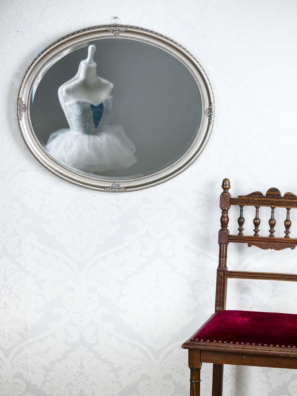 Miroir mural style antique 58x68cm facette de coupe argent for Force de miroir ebay