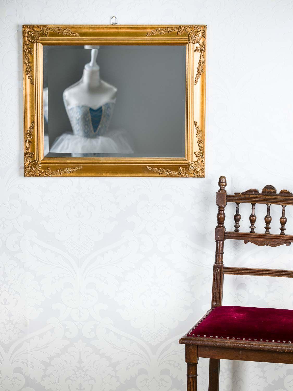 spiegel wandspiegel antik stil facettenschliff 53x63cm farbe gold holzrahmen ebay. Black Bedroom Furniture Sets. Home Design Ideas