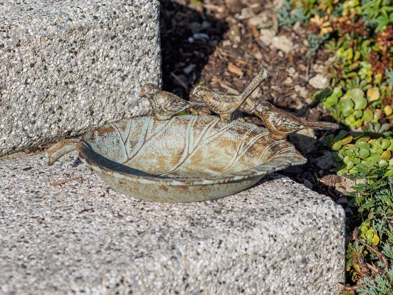 Vogeltränke Vogelbad Garten Vogelbecken Vogel Tränke Eisen grün | eBay