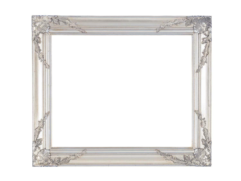 Bilderrahmen Gemälde Ölgemälde Rahmen Innenmaße 40x50cm Farbe silber ...
